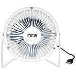 """Inca IMF-204B 4"""" Masaüstü USB Vantilatör Beyaz"""