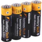 Battery Tech Süper Alkalin AA Kalem Pil 4'lü Paket