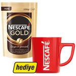 Nescafe Gold Kahve Poşet 200 gr Alana Nescafe Kırmızı Kupa Hediye