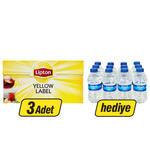 Lipton Demlik Poşet Çay Yellow Label 100'lü (12'li Sırma Su Hediyeli)