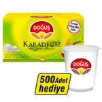Doğuş Karadeniz Demlik Poşet Çay Bergamotlu 500'lü (500 Adet Karton Bardak Hediyeli)