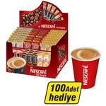 Nescafe Stick 75'li Karma Paket x 2 (100 Adet Karton Bardak Hediyeli)