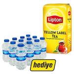 Lipton Dökme Çay Yellow Label 1000 gr (12'li Sırma Su Hediyeli)