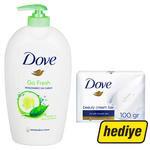 Dove Go Fresh Nemlendiricili Sıvı Sabun 500 ml (Dove Cream Bar Güzellik Sabunu Hediyeli)