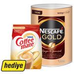 Nescafe Gold Kahve Teneke Kutu 900 gr (Nestle Coffee-Mate Kahve Kreması 500 gr Hediyeli)