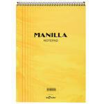 Le Color Manilla Yumuşak Sarı Kapaklı Spiralli Kareli Defter 21 cm x 30 cm 70 Yaprak