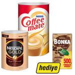 Nescafe Gold Kahve Teneke Kutu 900 gr + Nestle Coffee-Mate Kahve Kreması 2 kg (Nestle Bonka Filtre Kahve 500 gr Hediyeli)