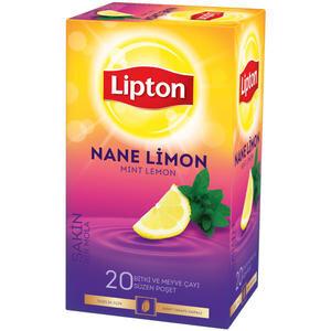 Lipton Bardak Poşet Bitki Çayı Nane Limon 20'li