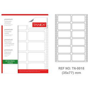 Tanex Tn-0018 Sürekli Form Etiketi 35 mm x 77 mm