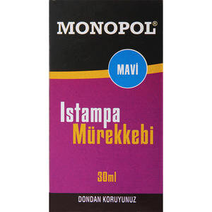 Monopol Istampa Mürekkebi 30 ml Mavi