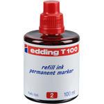 Edding T100 Marker Kalem Mürekkebi Kırmızı