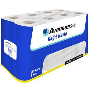 Avansas Soft Kağıt Havlu 8'li Paket