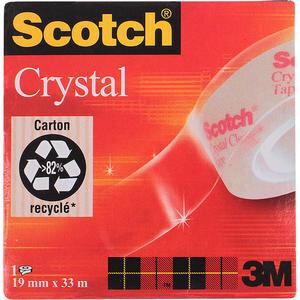 3M Scotch 600 Kristal Şeffaf Bant 19 mm x 33 m