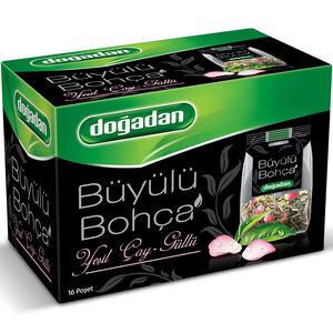Doğadan Büyülü Bohça Güllü Yeşil Çay 16'lı Paket