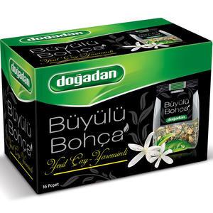 Doğadan Büyülü Bohça Yaseminli Yeşil Çay 16'lı Paket