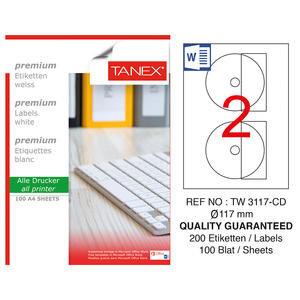 Tanex TW-3117 CD Etiketi 117 mm