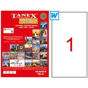 Tanex Tw-2000 Sevkiyat ve Lojistik Etiketi 210 mm x 297 mm