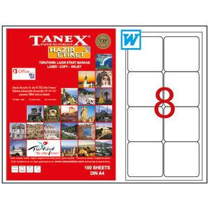 Tanex Tw-2008 Beyaz Sevkiyat ve Lojistik Etiketi 99.1 x 67.7 mm