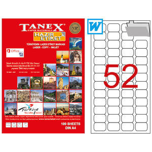 Tanex Tw-2052 Beyaz Etiket 46.4 mm x 21.1 mm