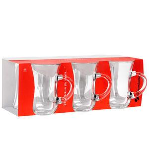 Paşabahçe 55411 Çay Bardağı Kulplu Keyif 145 cc 6'lı Paket