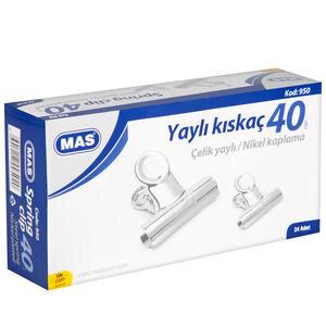 Mas 950 Yaylı Kıskaç 40 mm 24'lü Paket