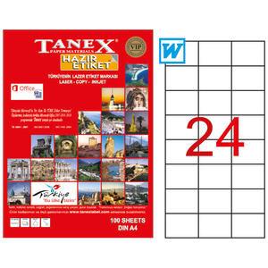 Tanex Tw-2037 Beyaz Adresleme ve Postalama Etiketi 70 mm x 37.125 mm