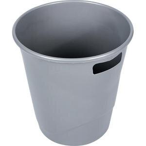 Ark 1050 Plastik Deliksiz Çöp Kovası Gri  9.5 lt