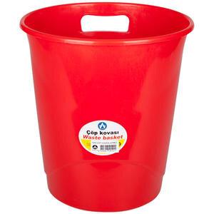 Ark 1050 Plastik Deliksiz Çöp Kovası Kırmızı 9.5 lt