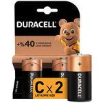 Duracell Alkalin C Orta Boy Pil 2' li Paket