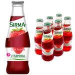 Sırma Vitaminli B-Plus Çilekli Maden Suyu 200 ml 6'lı Paket