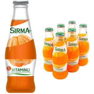 Sırma Vitaminli C-Plus Mandalina Maden Suyu 200 ml 6'lı Paket