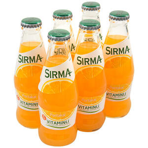 Sırma Vitaminli C-Plus Portakallı Maden Suyu 200 ml 6'lı Paket