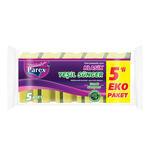 Parex Klasik Yeşil Oluklu Sünger 5'li Paket