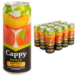 Cappy Meyve Suyu Şeftali Teneke Kutu 330 ml 12'li Paket