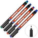 Edding 149M Asetat Kalemi 1 mm Uçlu Karışık Renk 4'lü Kutu