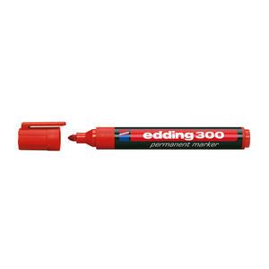 Edding 300 Marker Kalem Kırmızı Yuvarlak Uçlu 10'lu Paket
