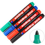 Edding 300 Marker Kalem Yuvarlak Uçlu Karışık Renk 4'lü Paket