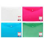 Globox A4 Kartlı Çıtçıtlı Evrak Dosyası Karışık Renklerde 12'li Paket