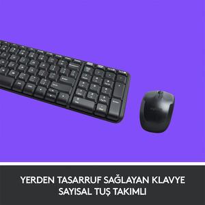 Logitech MK220 Combo Q Klavye-Mouse Kablosuz Set 920-003163