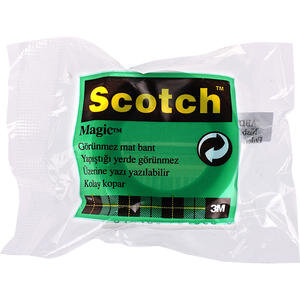 3M Scotch Magic Bant (Görünmez) Poşet 19 mm x 7.5 m