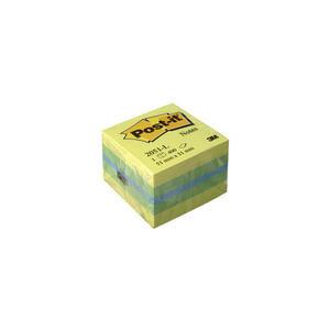 3M Post-it 2051L Yapışkanlı Not Kağıdı Mini Küp 51 mm x 51 mm Sarı Tonları 400 Yaprak