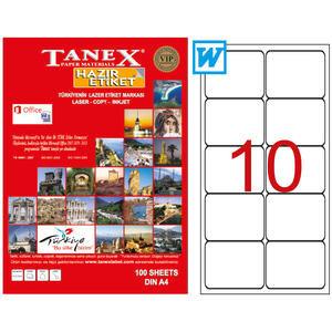 Tanex Tw -2010 Beyaz  Sevkiyat ve Lojistik Etiketi 99.06 mm x 57 mm