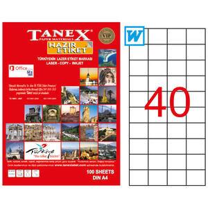 Tanex Tw-2040 Beyaz Adresleme ve Postalama Etiketi 52.5 mm x 29.7 mm