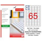 Tanex Tw-2065 Beyaz Etiket 38.1 mm x 21.12 mm