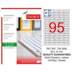 Tanex Tw-2095 Beyaz Etiket 30 mm x 12 mm