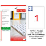 Tanex Tw-2294 Beyaz Sevkiyat ve Lojistik Etiketi 210 mm x 294.86 mm