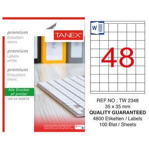 Tanex Tw-2348 Beyaz Etiket 35 mm x 35 mm
