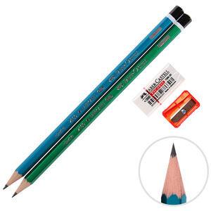 Faber Castell KalemTıraş + Silgi + 2 HB Kurşun Kalem Seti