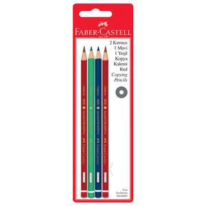 Faber Castell Kopya Kalemi Karışık Renk 4'lü Paket