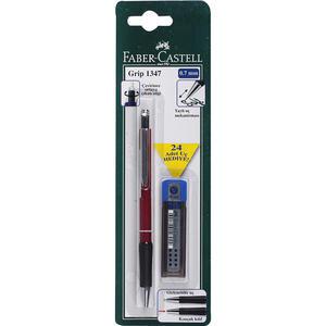 Faber Castell Grip 1347 Versatil Uçlu Kalem ve Uç Hediyeli Seti 2B 0.7 mm Siyah